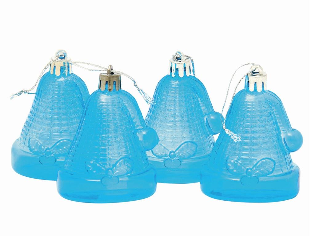 Набор украшений Золотая сказка Колокольчики 4шт Light Blue 59598/590661