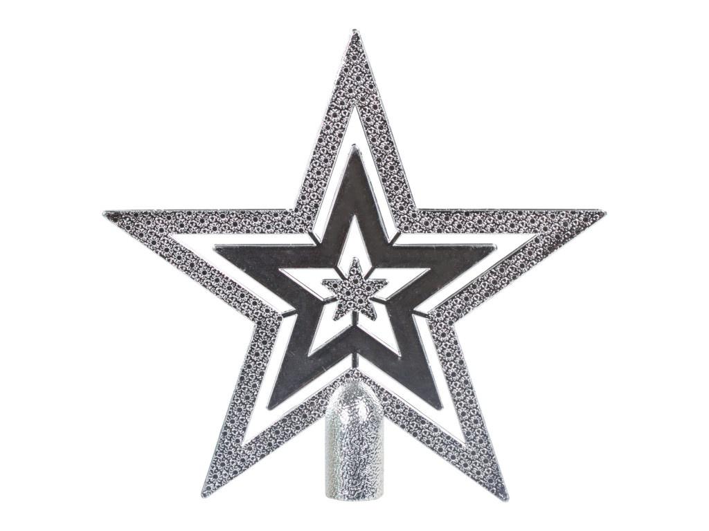 Елочная верхушка Золотая сказка Звезда 15cm Silver 591120