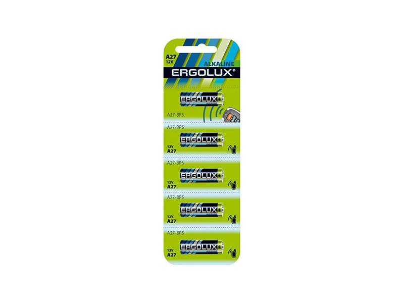 Батарейка A27 - Ergolux LR27A BL-5 (5 штук)