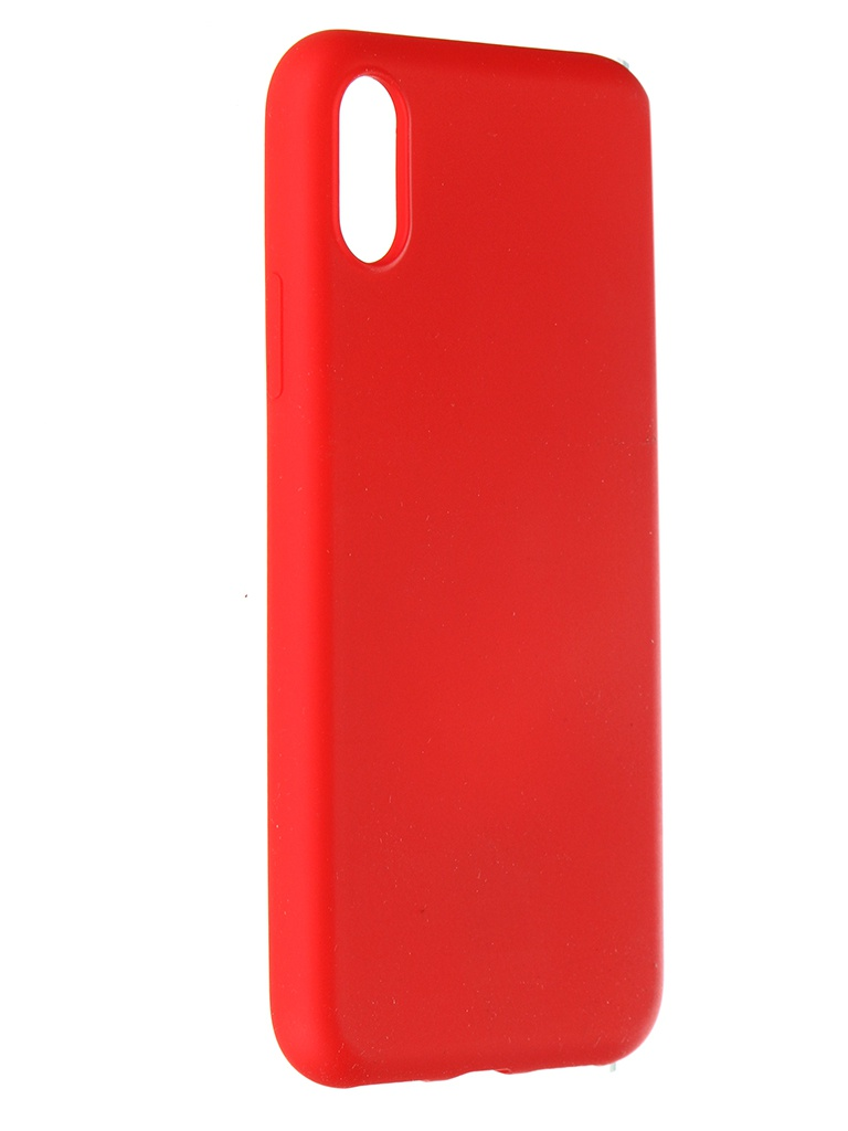 Чехол Pero для APPLE iPhone X / XS Liquid Silicone Red PCLS-0002-RD