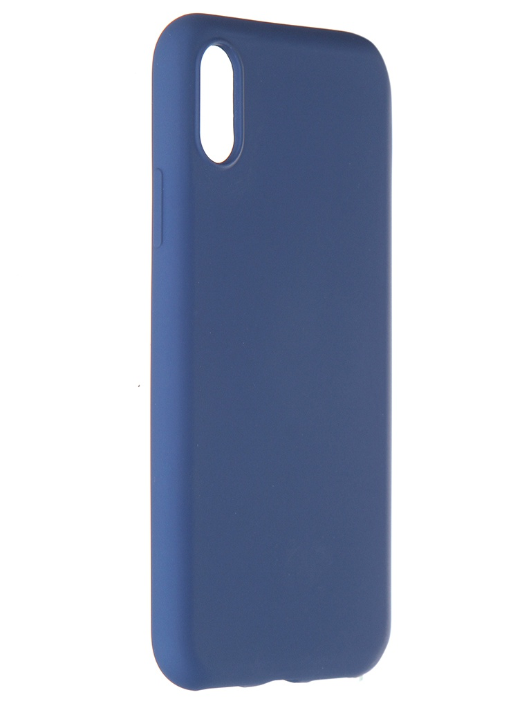Чехол Pero для APPLE iPhone X / XS Liquid Silicone Blue PCLS-0002-BL