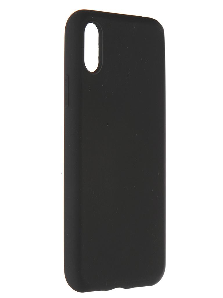 Чехол Pero для APPLE iPhone X / XS Liquid Silicone Black PCLS-0002-BK