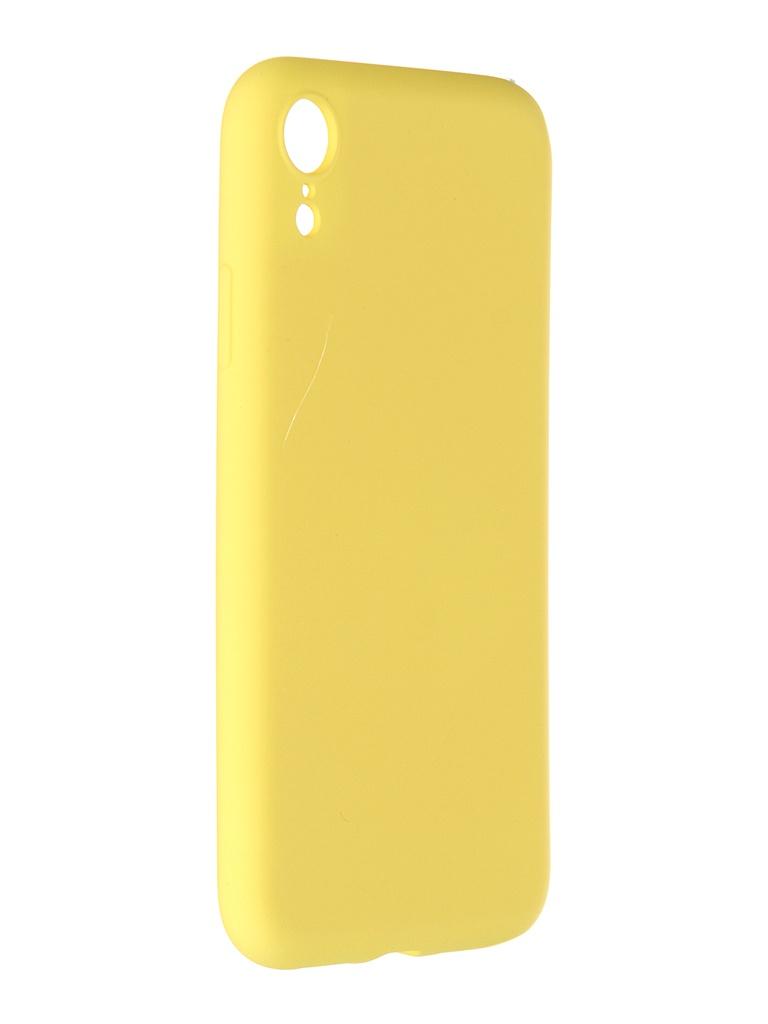 Чехол Pero для APPLE iPhone XR Liquid Silicone Yellow PCLS-0003-YW