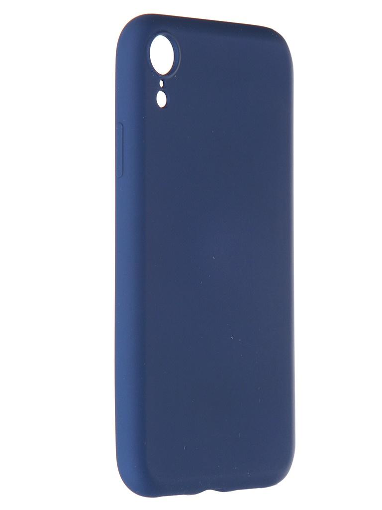 Чехол Pero для APPLE iPhone XR Liquid Silicone Blue PCLS-0003-BL