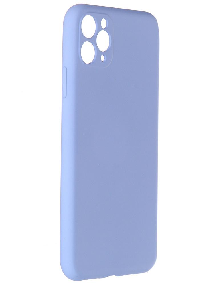 Чехол Pero для APPLE iPhone 11 Pro Max Liquid Silicone Light Blue PCLS-0023-LB
