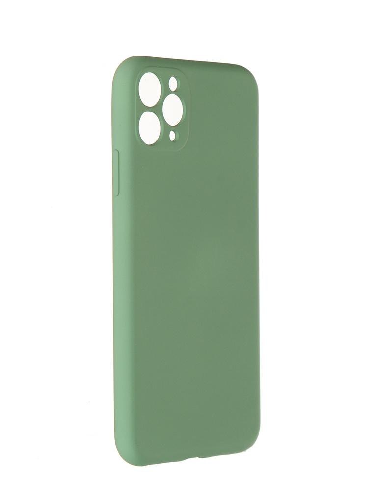Чехол Pero для APPLE iPhone 11 Pro Max Liquid Silicone Green PCLS-0023-GN
