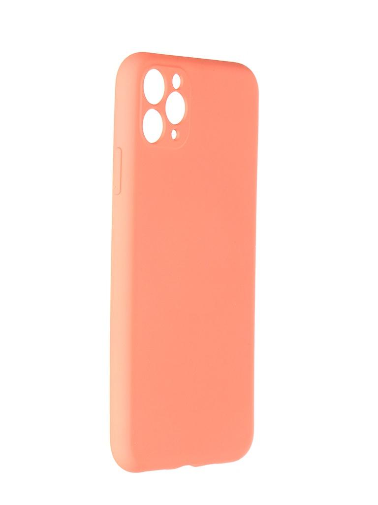 Чехол Pero для APPLE iPhone 11 Pro Max Liquid Silicone Orange PCLS-0023-OR