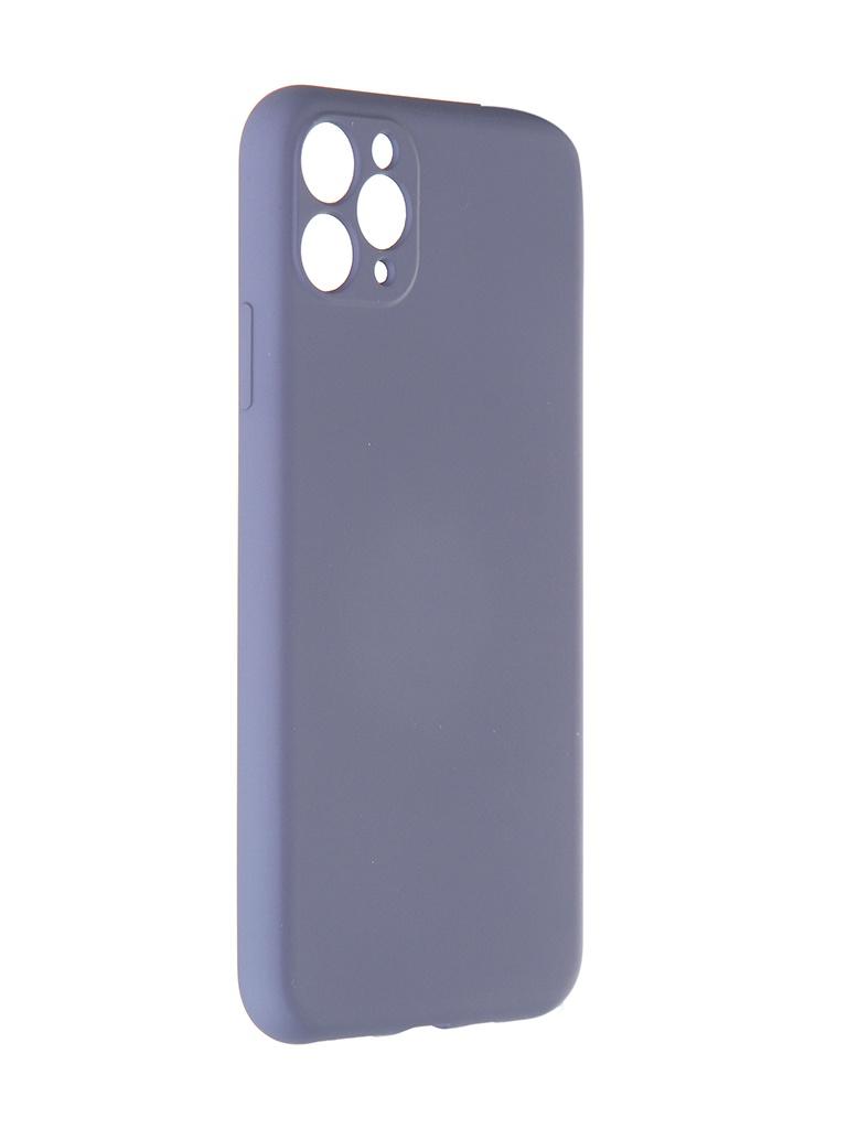 Чехол Pero для APPLE iPhone 11 Pro Max Liquid Silicone Grey PCLS-0023-GR