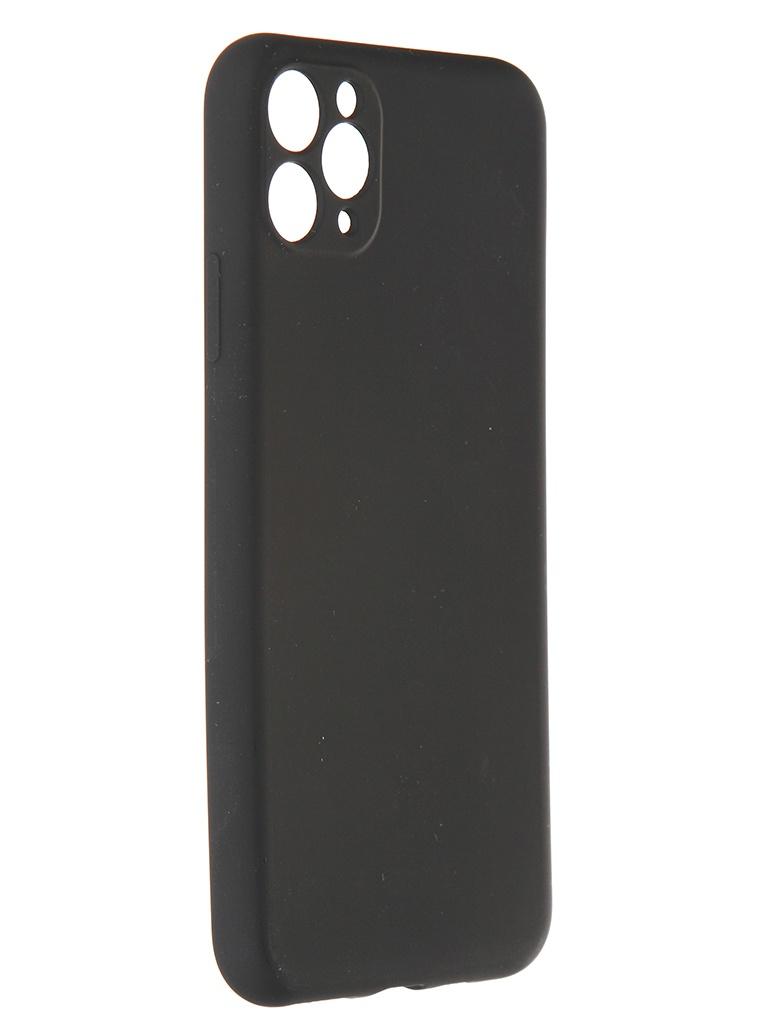 Чехол Pero для APPLE iPhone 11 Pro Max Liquid Silicone Black PCLS-0023-BK