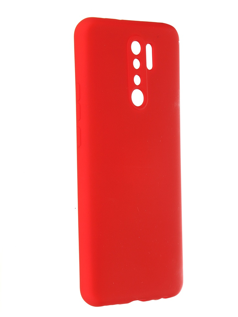 Чехол Pero для Xiaomi Redmi 9 Liquid Silicone Red PCLS-0021-RD