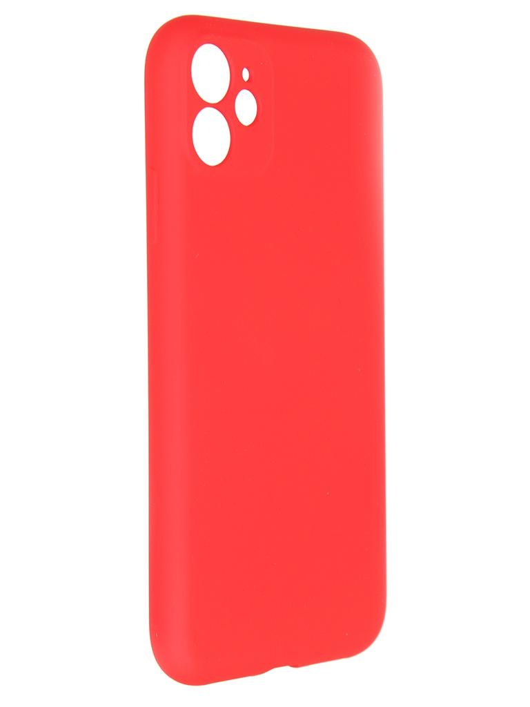 Чехол Pero для APPLE iPhone 11 Liquid Silicone Red PCLS-0022-RD