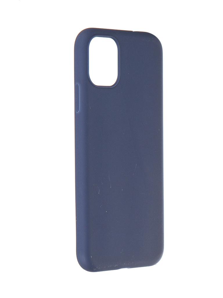 Чехол Pero для APPLE iPhone 11 Liquid Silicone Blue PCLS-0022-BL