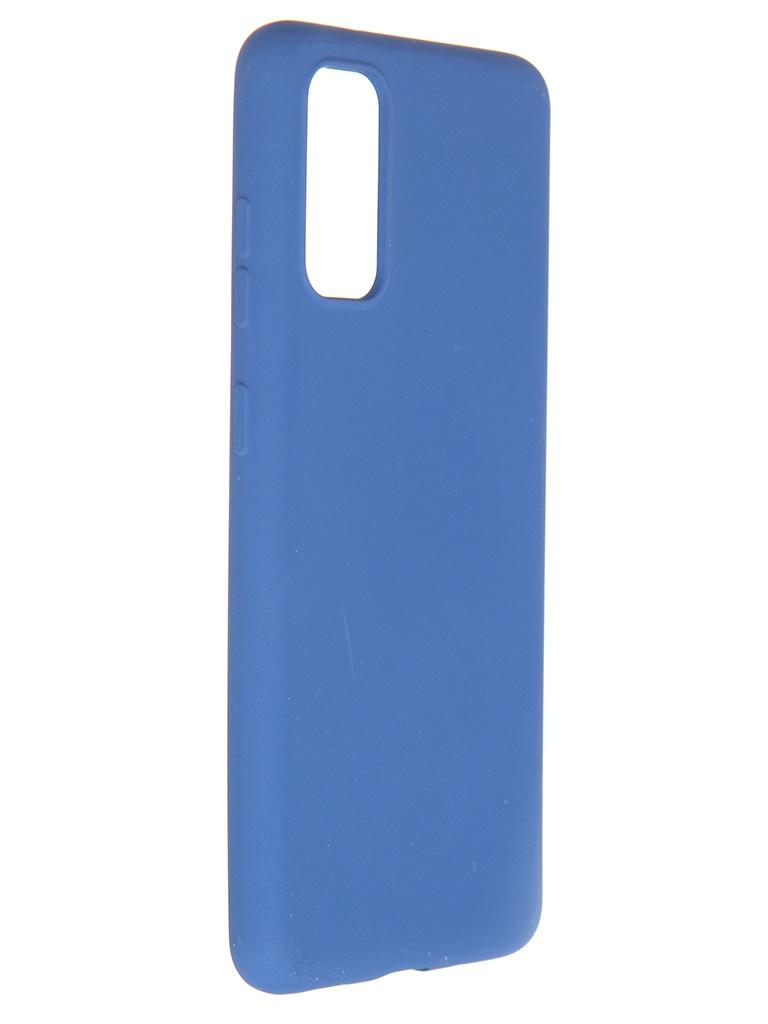 Чехол Pero для Samsung Galaxy S20 Liquid Silicone Blue PCLS-0010-BL