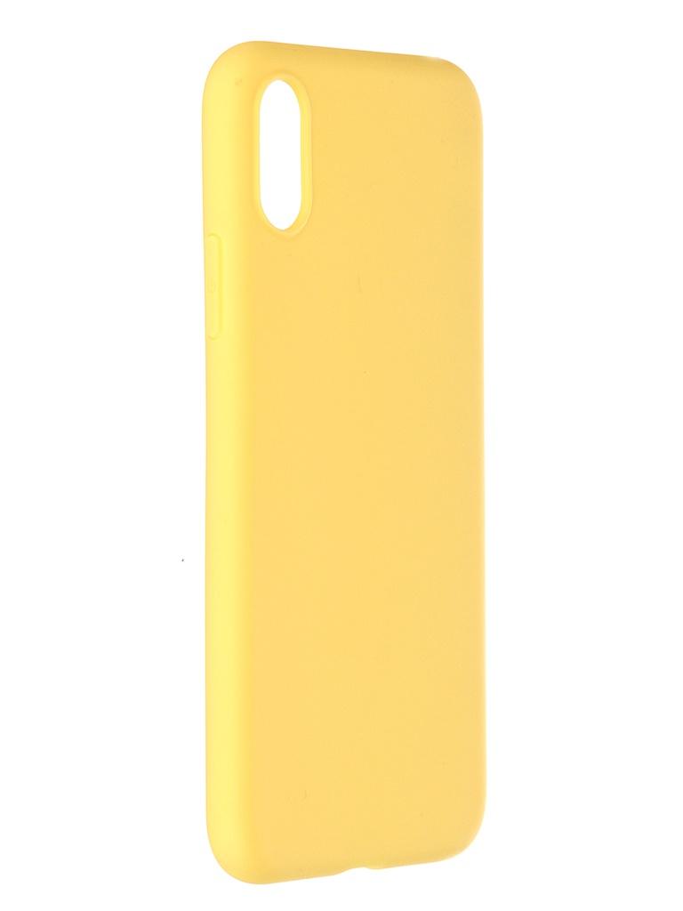Чехол Pero для APPLE iPhone X / XS Liquid Silicone Yellow PCLS-0002-YW