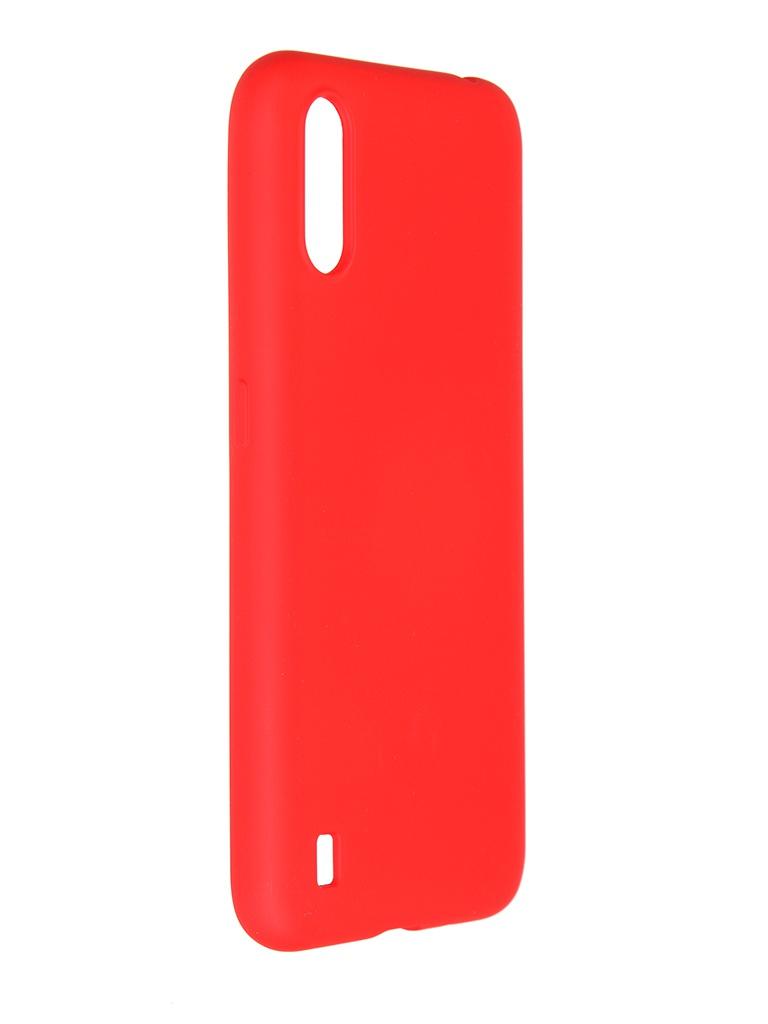 Чехол Pero для Samsung Galaxy A01 Liquid Silicone Red PCLS-0012-RD