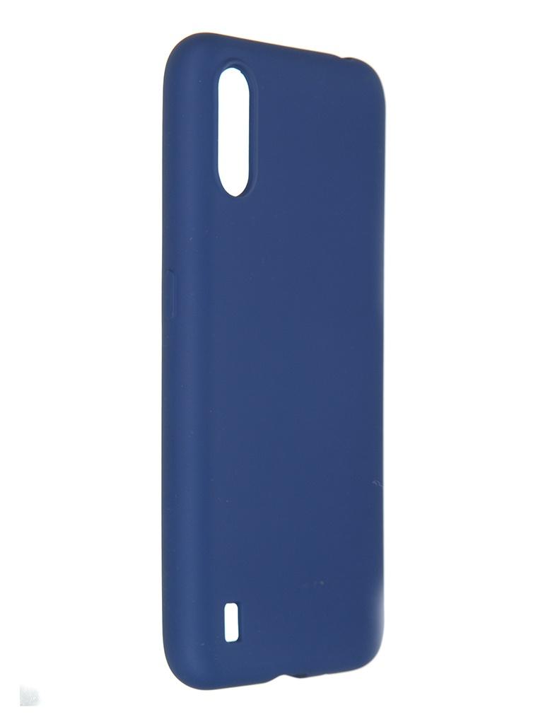 Чехол Pero для Samsung Galaxy A01 Liquid Silicone Blue PCLS-0012-BL