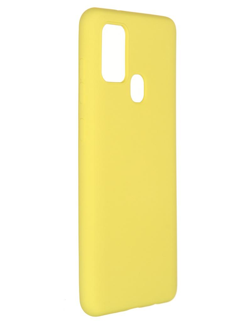 Чехол Pero для Samsung Galaxy A21s Liquid Silicone Yellow PCLS-0016-YW