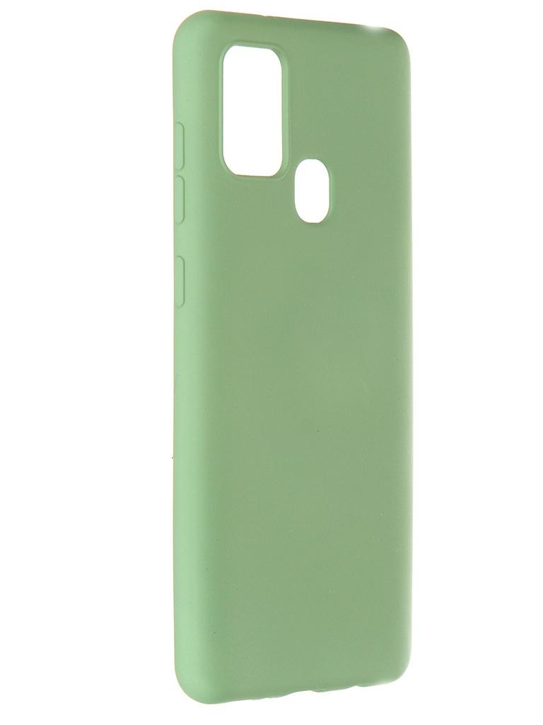 Чехол Pero для Samsung Galaxy A21s Liquid Silicone Green PCLS-0016-GN