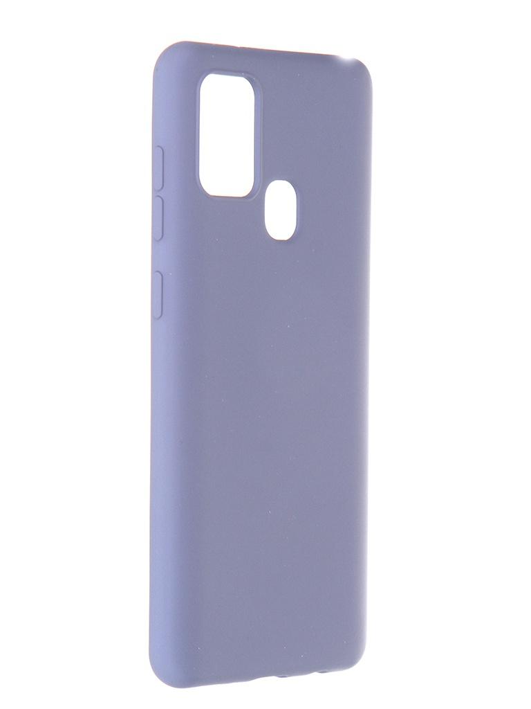 Чехол Pero для Samsung Galaxy A21s Liquid Silicone Grey PCLS-0016-GR
