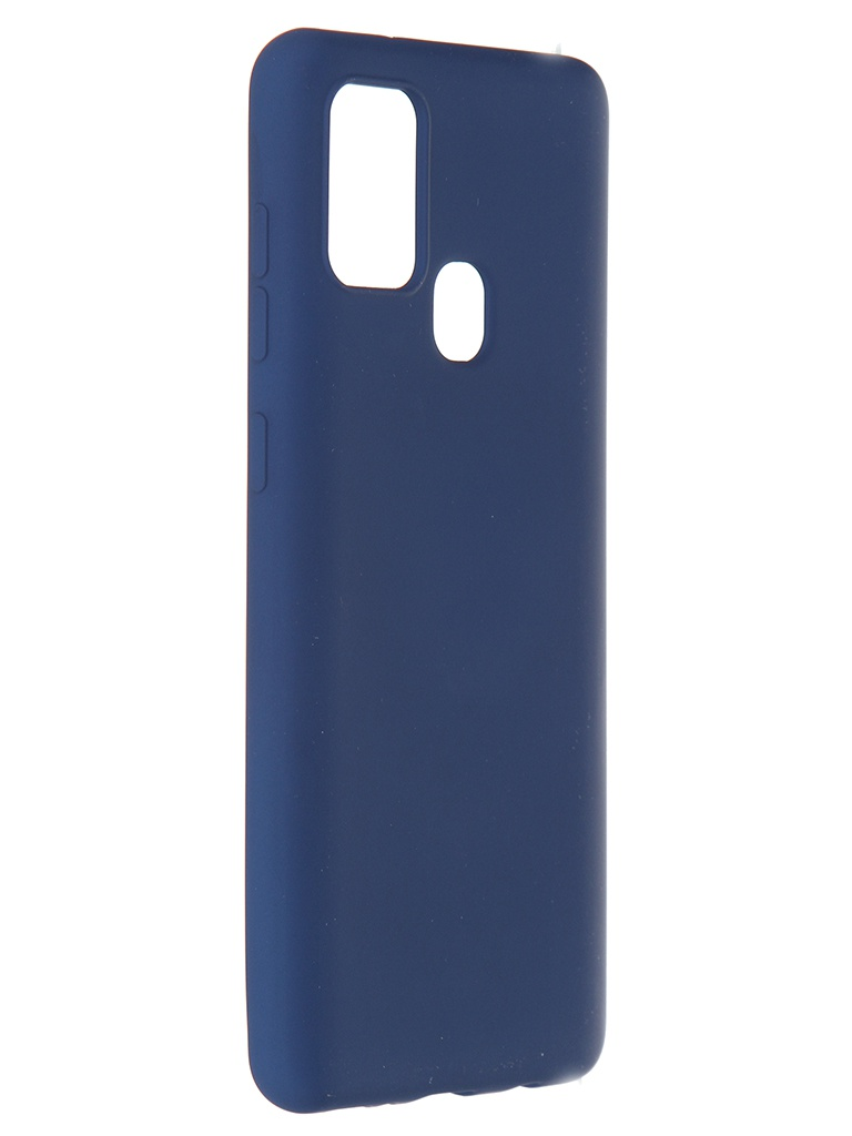 Чехол Pero для Samsung Galaxy A21s Liquid Silicone Blue PCLS-0016-BL