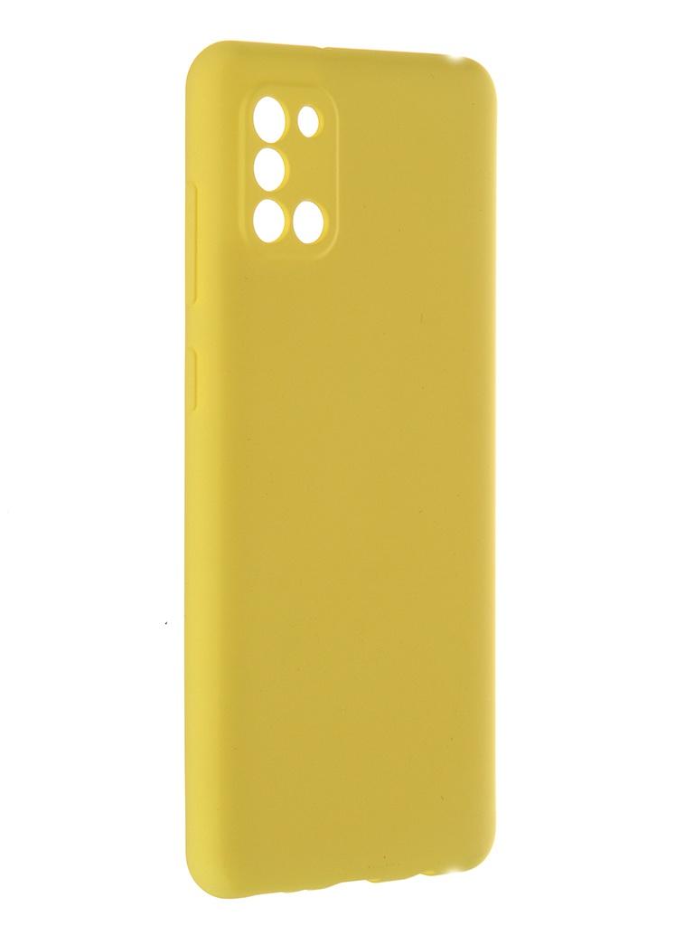 Чехол Pero для Samsung Galaxy A31 Liquid Silicone Yellow PCLS-0007-YW