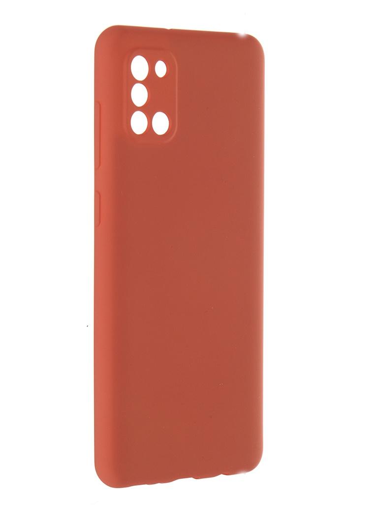 Чехол Pero для Samsung Galaxy A31 Liquid Silicone Orange PCLS-0007-OR