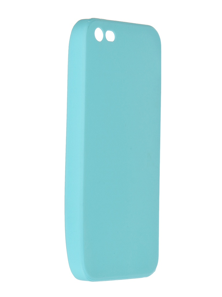 Чехол Pero для APPLE iPhone 5/5S/SE Soft Touch Turquoise PRSTC-I5C