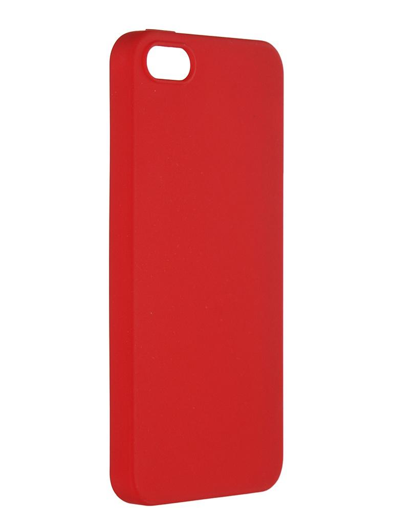 Чехол Pero для APPLE iPhone 5/5S/SE Soft Touch Red PRSTC-I5R
