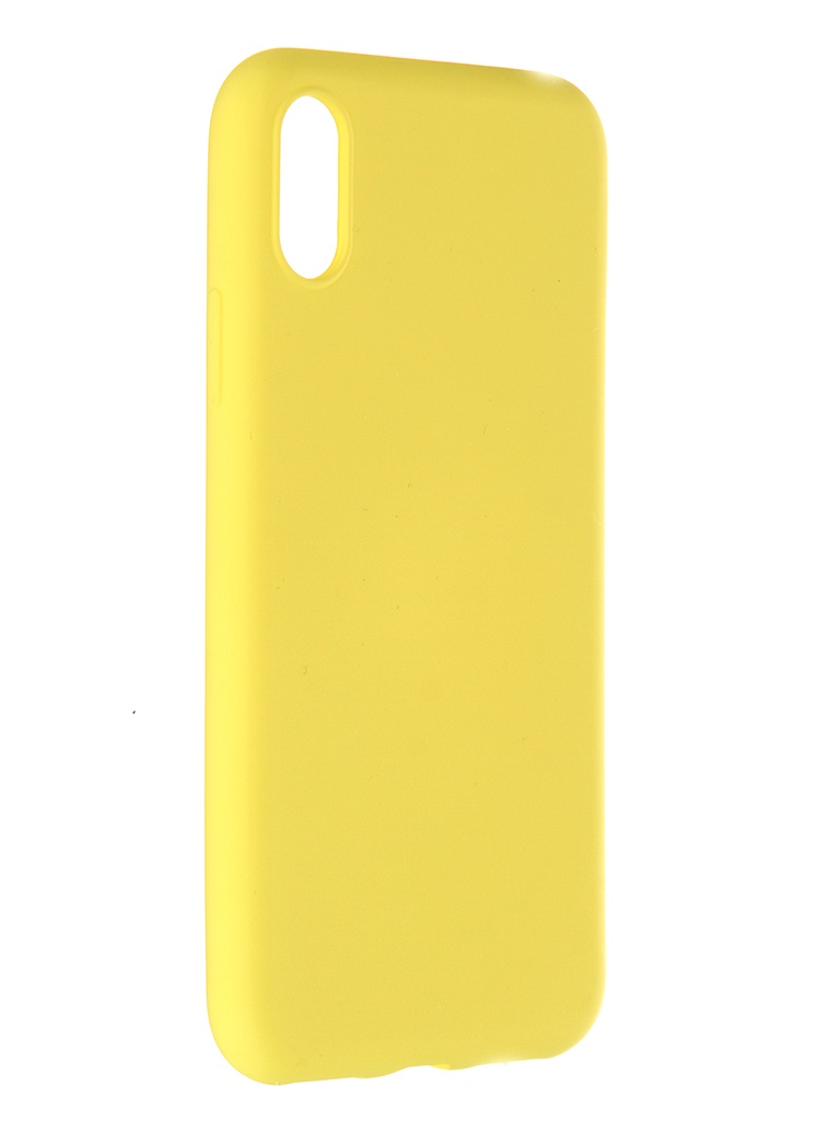 Чехол Pero для APPLE iPhone X Soft Touch Yellow CC01-IXY