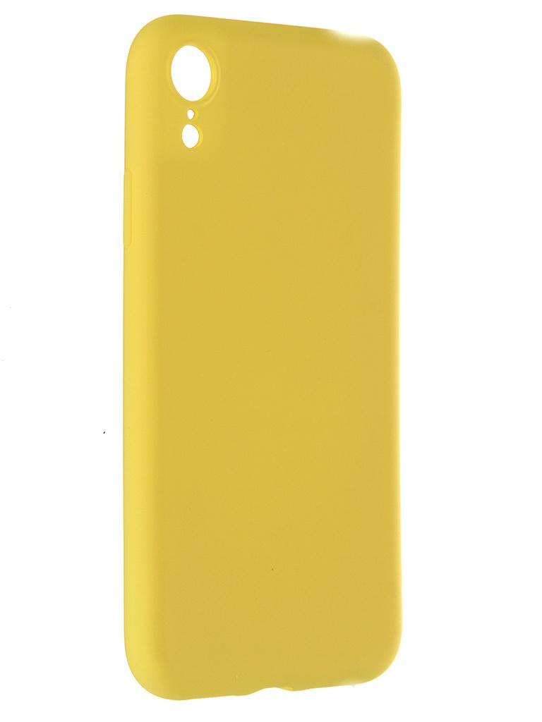 Чехол Pero для APPLE iPhone XR Soft Touch Yellow CC01-IXRY