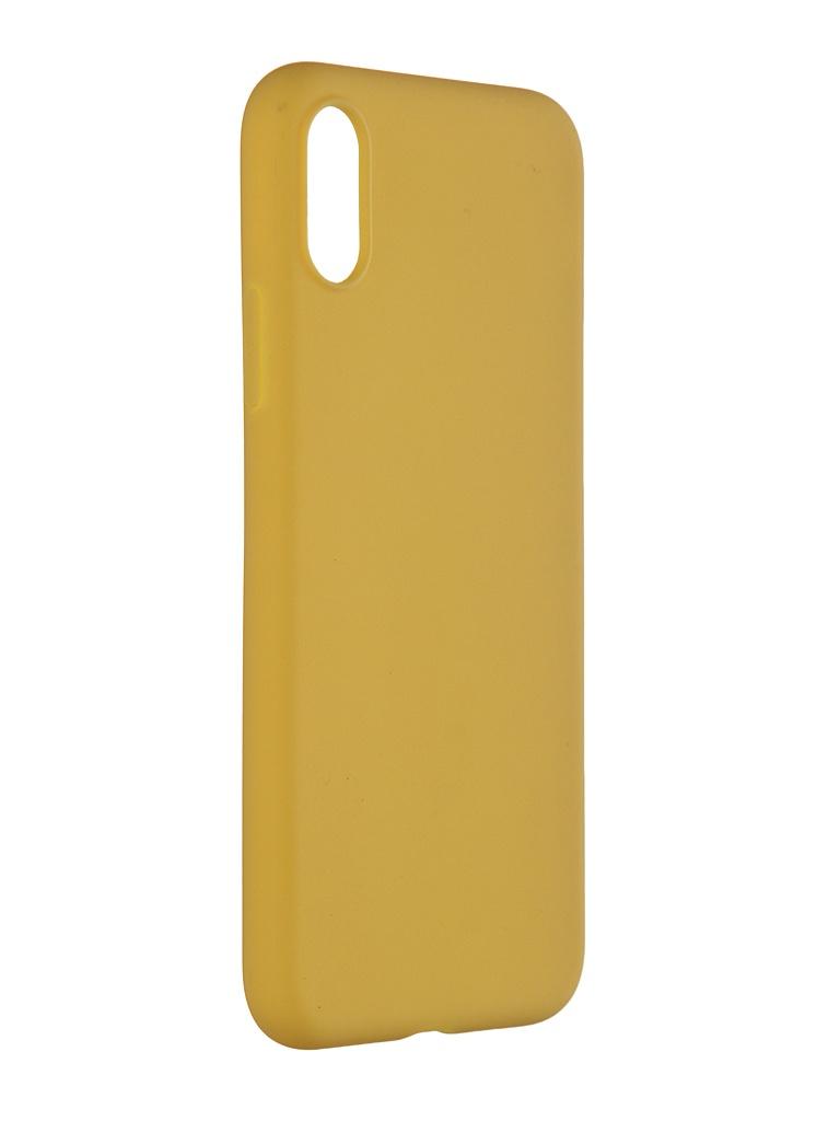 Чехол Pero для APPLE iPhone XS Soft Touch Yellow CC01-IXSY