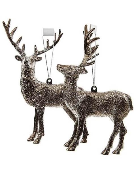 Елочная игрушка Kaemingk Лесной олень 14cm 027885 / 152793