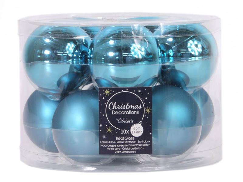 Набор шаров Kaemingk 60mm 10шт Turquoise 140468 / 167206