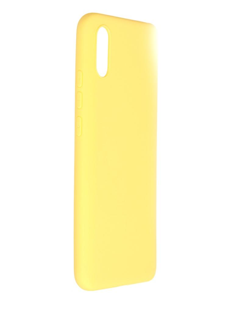 Чехол Pero для Xiaomi Redmi 9A Soft Touch Yellow CC01-R9AY