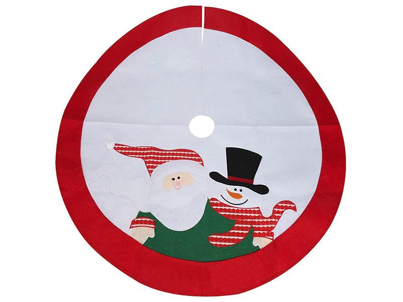 Юбка для декорирования ёлки Kaemingk Новогодние мотивы Санта и Снеговичок 100cm AAF202240 / 173183