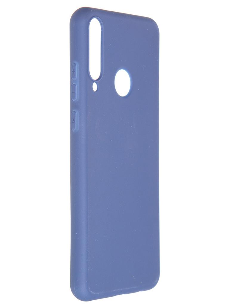 Чехол Pero для Huawei Y6p Soft Touch Blue CC01-Y6PBL