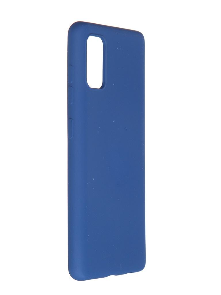 Чехол Pero для Samsung Galaxy A41 Liquid Silicone Blue PCLS-0008-BL