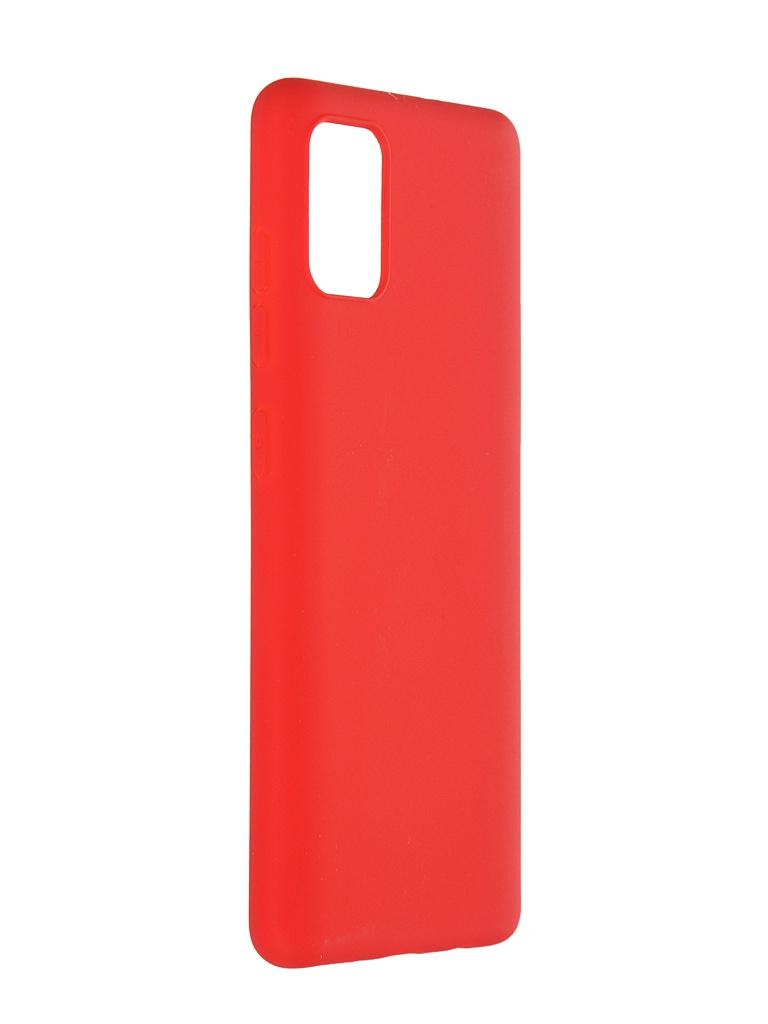 Чехол Pero для Samsung Galaxy A51 Liquid Silicone Red PCLS-0013-RD