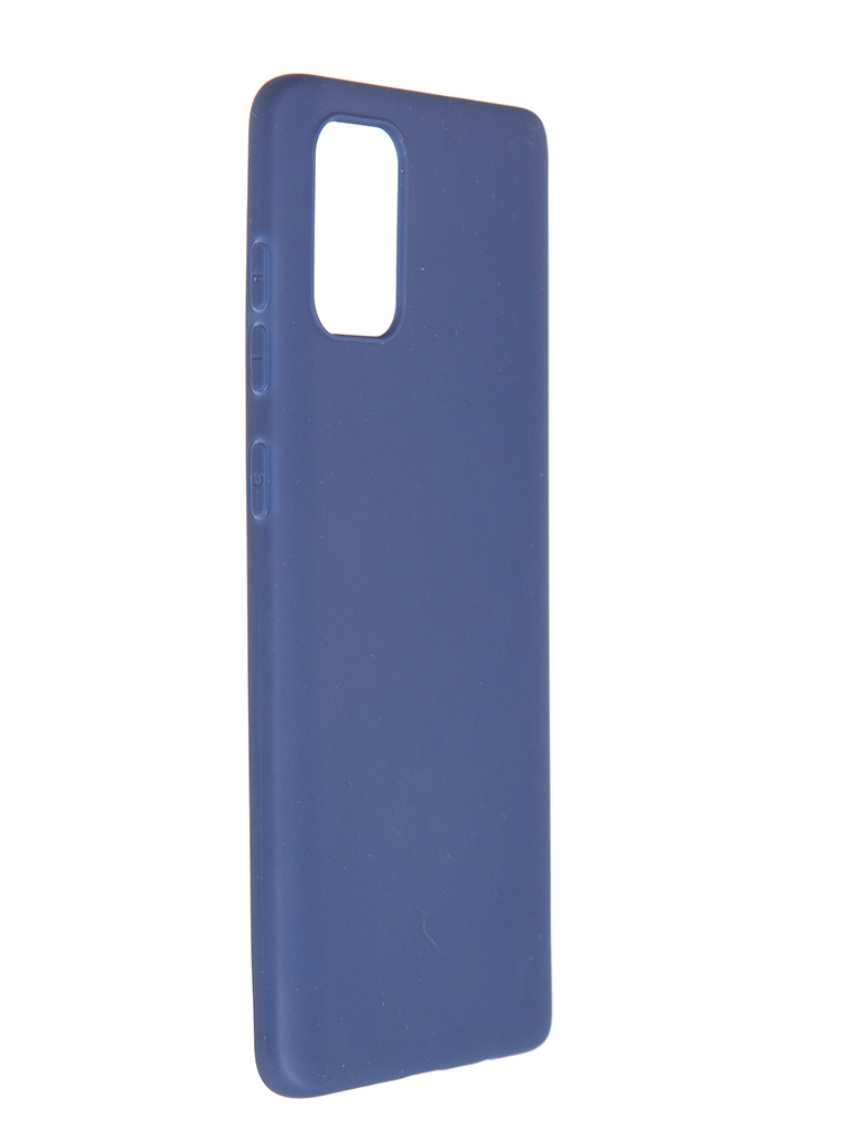 Чехол Pero для Samsung Galaxy A71 Liquid Silicone Blue PCLS-0015-BL