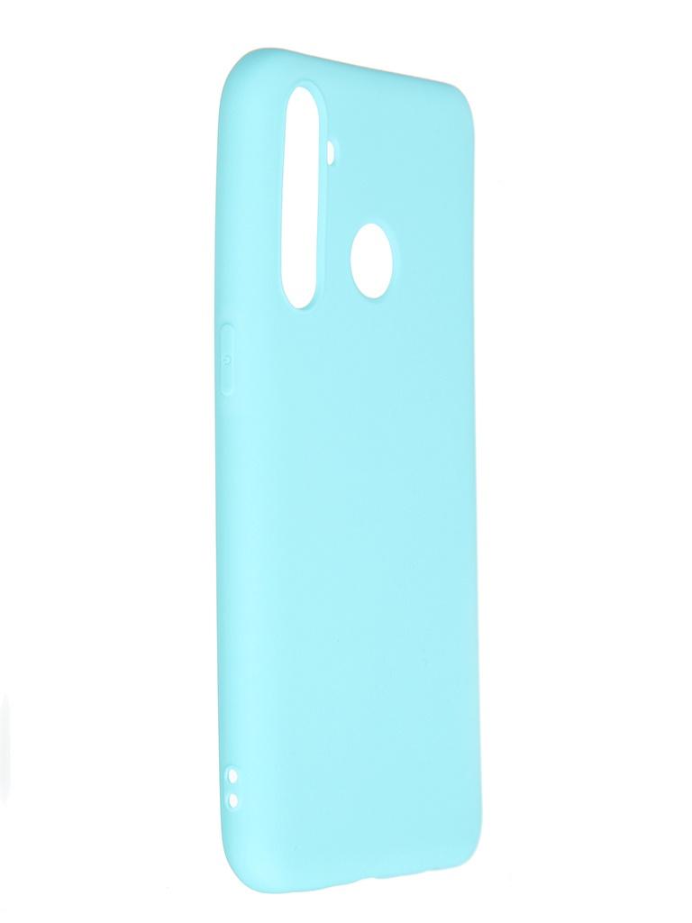 Чехол Pero для Realme 5 Pro Soft Touch Turquoise CC01-R5PC
