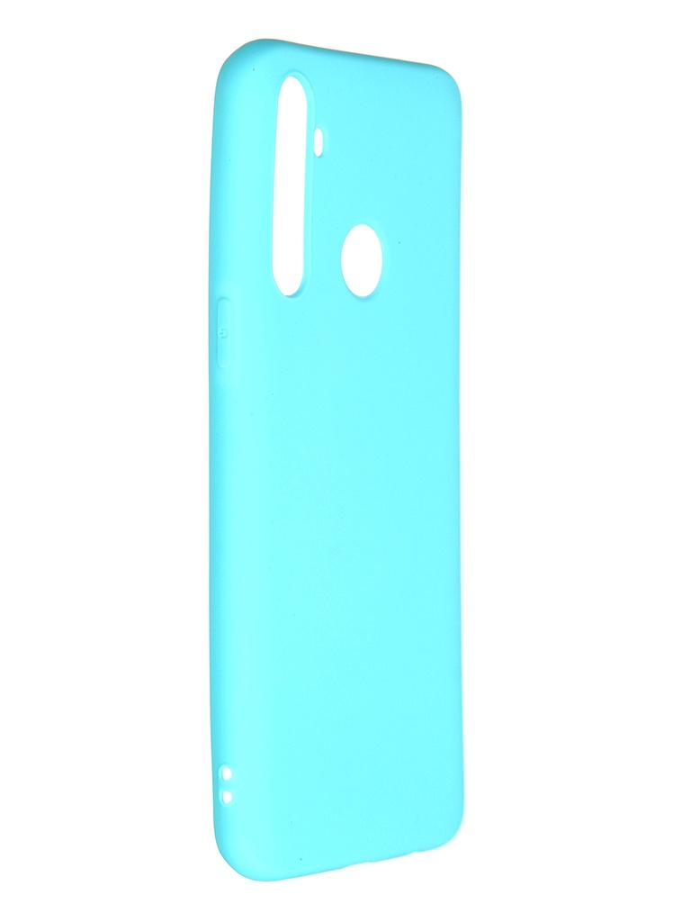 Чехол Pero для Realme 5 Soft Touch Turquoise CC01-R5C
