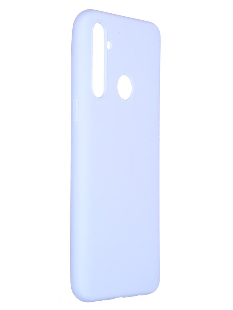 Чехол Pero для Realme 5 Soft Touch Light Blue CC01-R5OB