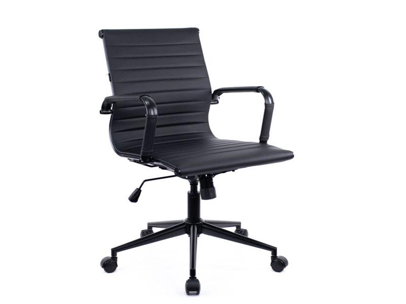 Компьютерное кресло Everprof Leo T Экокожа Black-Black