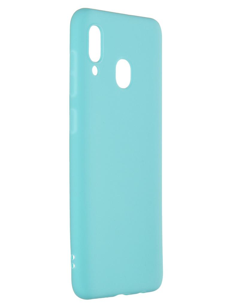 Чехол Pero для Samsung Galaxy A30S Soft Touch Turquoise CC01-A30SC