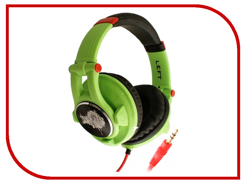 Наушники Fischer Audio Wicked Queen Green стереогарнитура fischer audio dream catcher w mic green