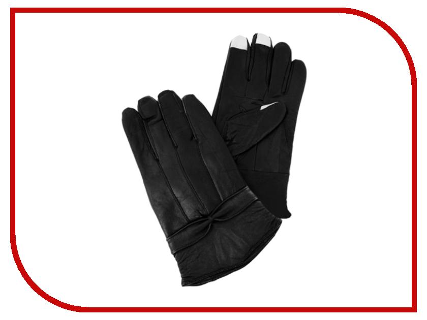 Теплые перчатки для сенсорных дисплеев MBM кожаные женские р.UNI Black 080031