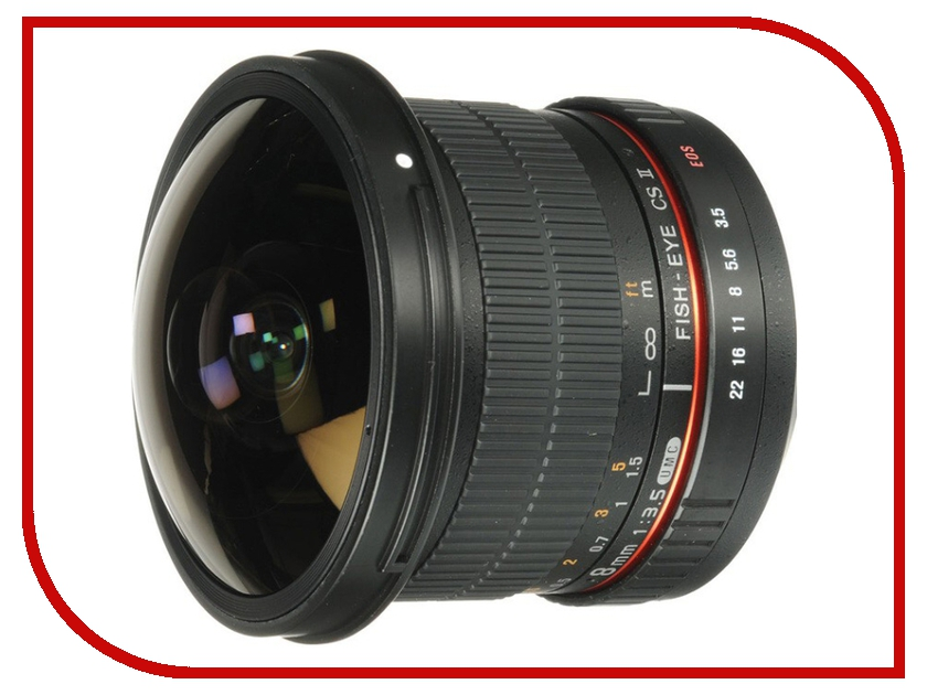Объектив Samyang Canon MF 8 mm F/3.5 AS IF UMC Fish-eye CS II<br>
