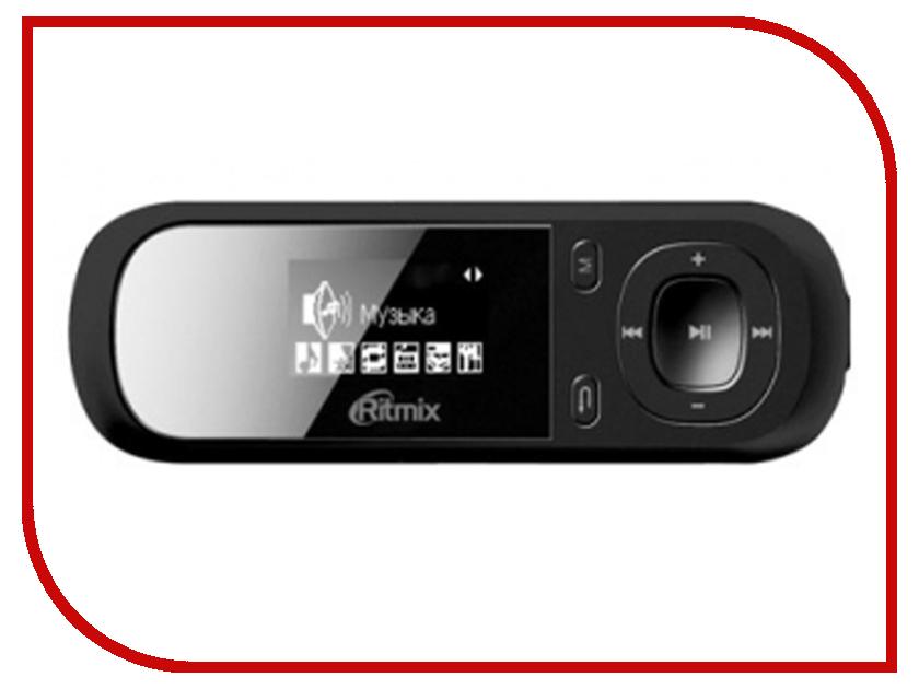 Плеер Ritmix RF-3360 8Gb Black портативный медиаплеер ritmix rf 5100bt 8gb black light blue