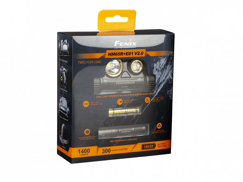Фонарь Fenix HM65R LED Headlight + E01 V2.0 HM65RE01V20