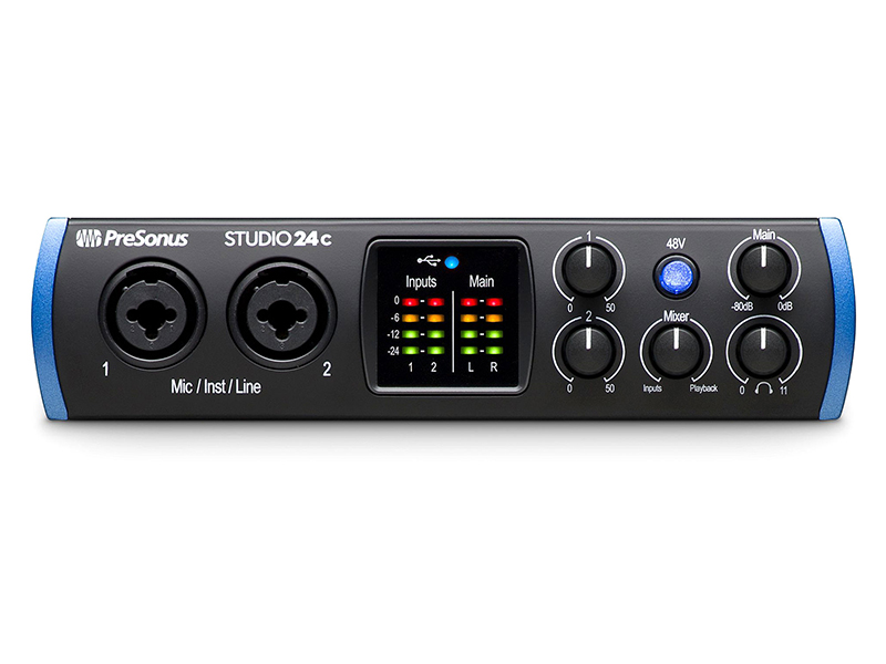 Аудиоинтерфейс PreSonus Studio 24c